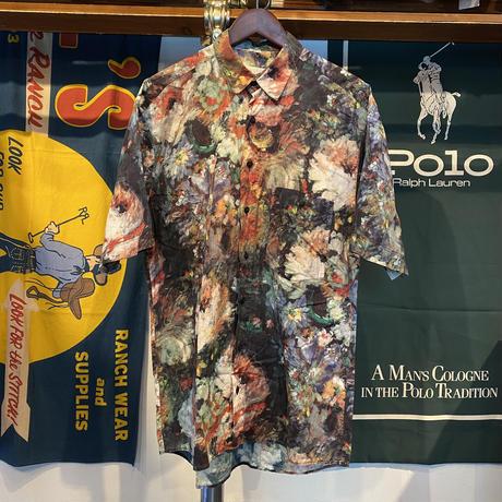 benetti impressionism flower print S/S shirt (M)
