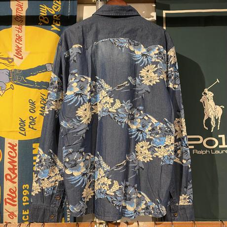 SHANBAO denim flower shirt (4XL)