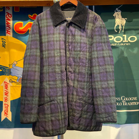 Brooks Brothers button check coat (M)