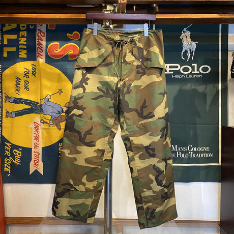Military Woodland camo GORE-SEAM outer pants (S)