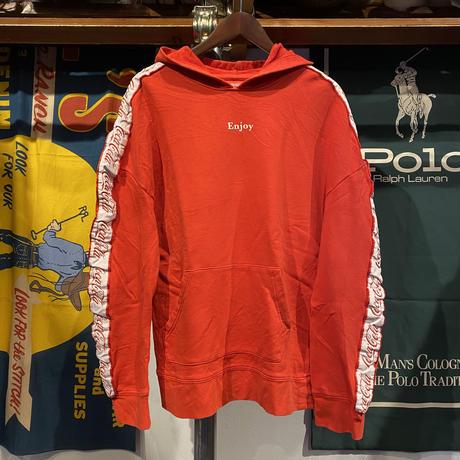 "Coca-Cola PACSUN ""Enjoy"" line sleeve hoodie (M)"