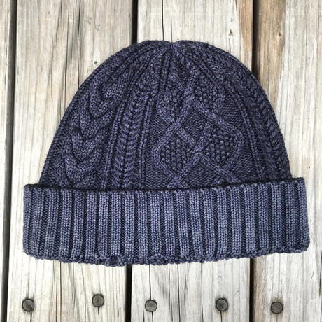 RRL low gauge knit cap (Navy)