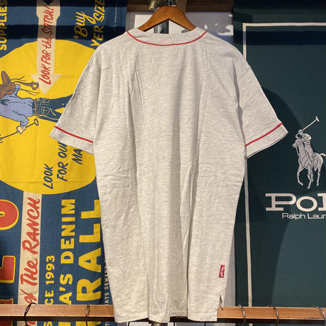 "ACME CLOTHING ""TAS"" half button baseball shirt (S/M)"
