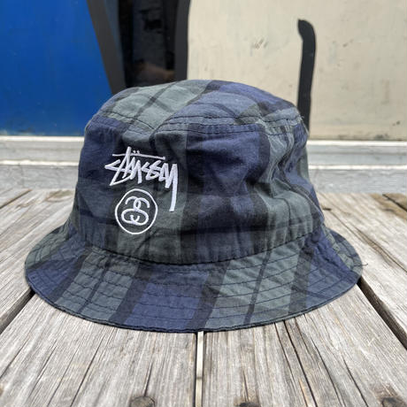 stussy logo embroidery hat