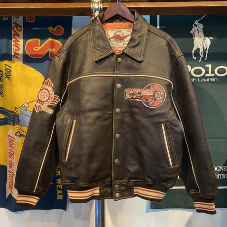 "AVIREX VARSITY ""SPIDER ROCK 74"" leather jacket (M)"