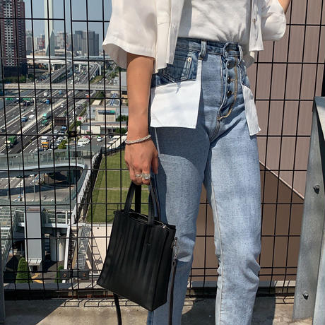 highwaist straight denim