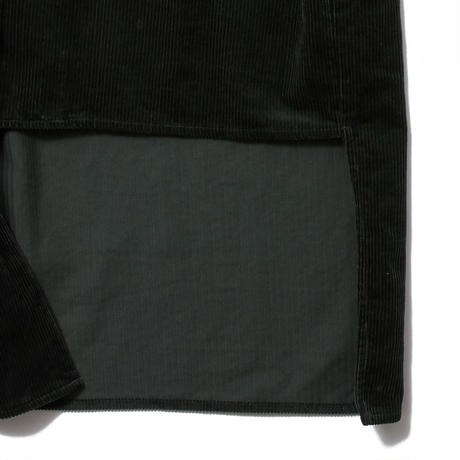 ASYMMETTRYC CORDUROY SHIRT (GREEN) R70007