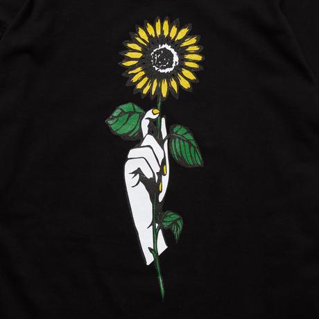 SUN FLOWER L/S SHIRT (BLACK) 10009