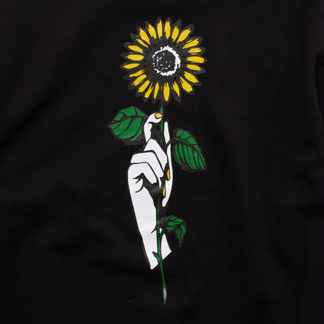 SUN FLOWER SWEAT SHIRT (BLACK) 20001