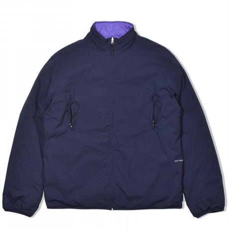 POP TRADING COMPANY PLADA REVERSIBLE PADDED JACKET - NAVY/GRAPE