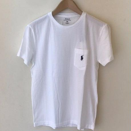 POLO RALPH LAUREN 1POINT POCKET TEE-WHITE #4002