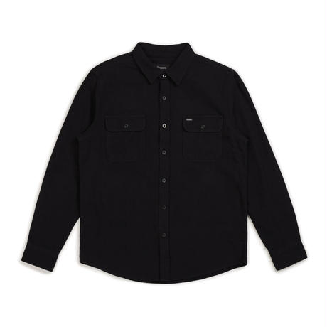 BRIXTON BOWERY SOLID L/S FLANNEL - BLACK