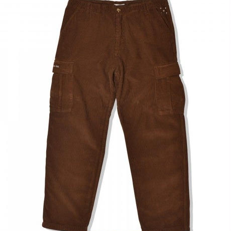 POP TRADING COMPANY POP CORDUROY CARGO PANT -  BROWN