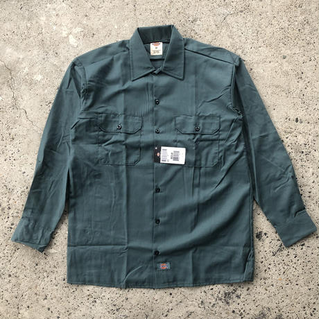 DICKIES Long Sleeve Work Shirt - Lincoln Green