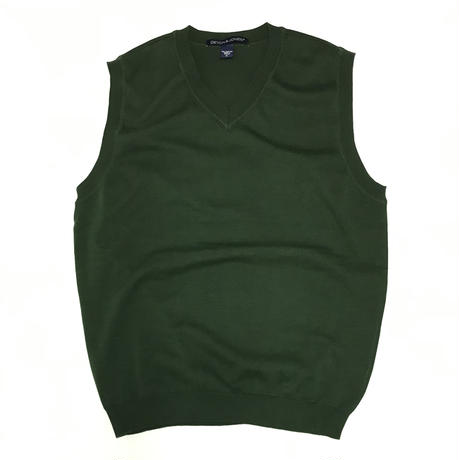 DEVON & JONES V NECK KNIT VEST - GREEN