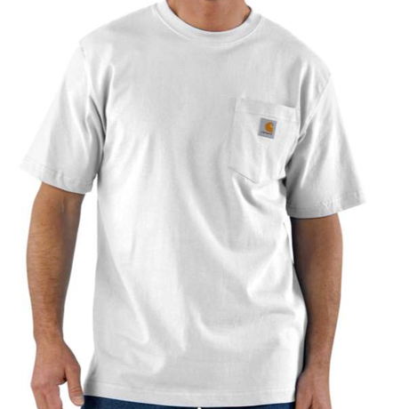 CARHARTT WORKWEAR POCKET T-SHIRT-White