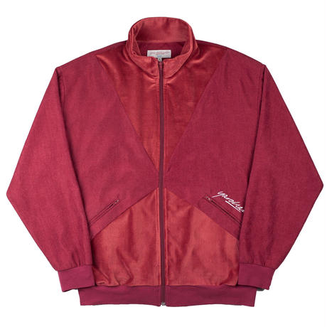 YARDSALE - ALAN VELOUR/CORD TRACK TOP - Ruby