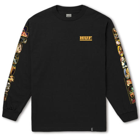 HUF DISASTER LONG SLEEVE TEE - BLACK