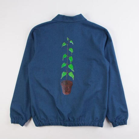 GRIND LONDON GROW DENIM JACKET - BLUE