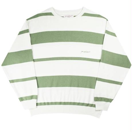 Yardsale Val Knit Crewneck (Fern/White)