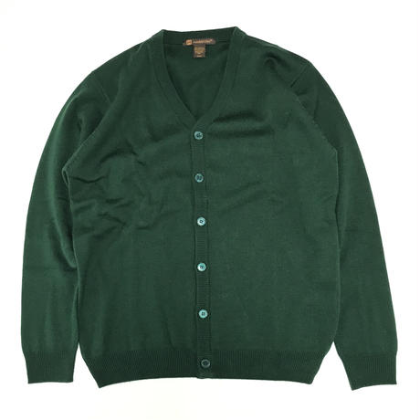 HARRITON V-NECK BUTTON CARDIGAN SWEATER - HUNTER GREEN