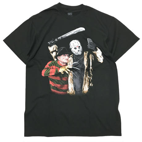 FRIDAY THE 13TH JASON & FREDDY SELFIE TEE - Black