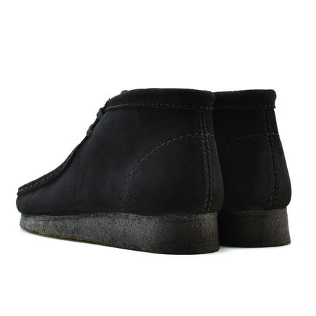 CLARKS WALLABEE BOOT - Black Suede