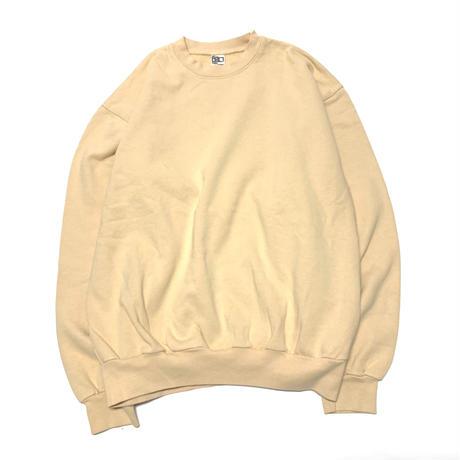LOSANGELS APPAREL 14oz Garment Dye Crewneck-BEIGE