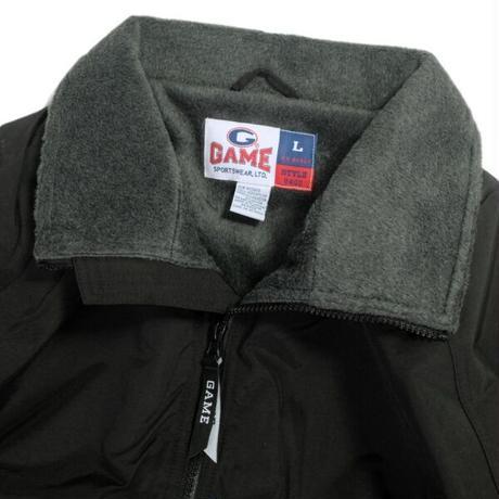 GAME Sportswear Fleece Lining Warm Up Jacket - Black