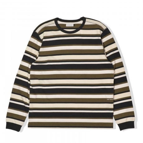 POP TRADING COMPANY STRIPED LONGSLEEVE T-SHIRT - MULTI