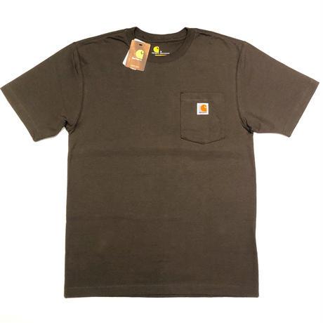 CARHARTT WORKWEAR POCKET T-SHIRT - Dark Brown