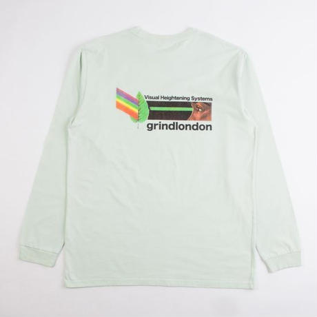 GRIND LONDON VHS L/S TEE - GREEN