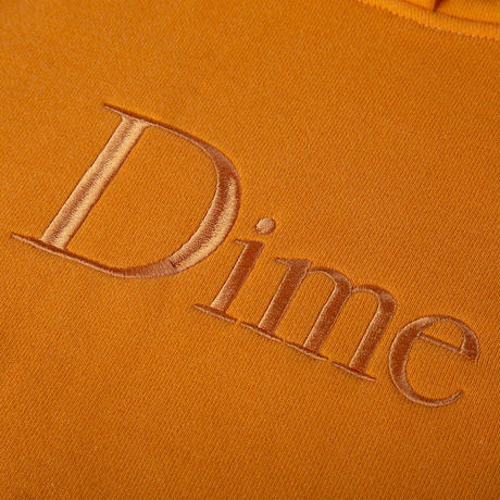 Dime Classic Logo Embroidered Hoodie - Orange