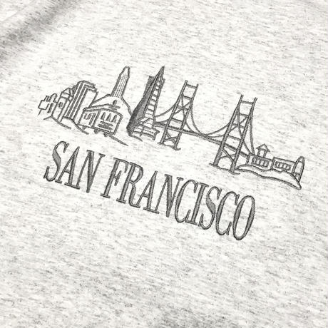 SAN FRANCISCO  SOUVENIR BRIDGE TEE - ASH GRAY