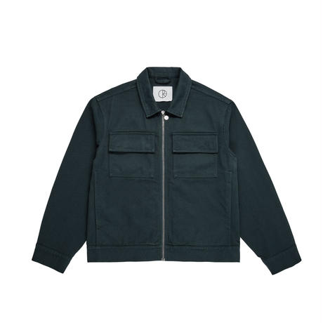 POLAR SKATE CO TWILL JACKET-GREY TEAL