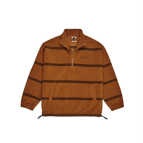 POLAR SKATE CO STRIPED-FLEECE-PULLOVER-2.0-CARAMEL