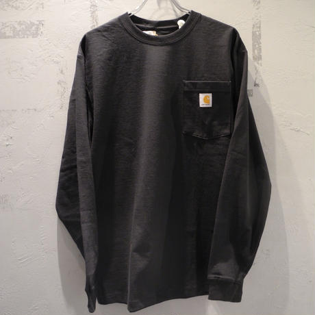 CARHARTT K126 LONG SLEEVE WORKWEAR POCKET T-SHIRT Black