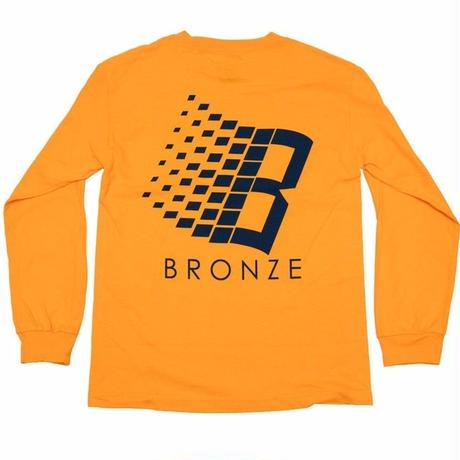 BRONZE 56K B LOGO L/S TEE-GOLD