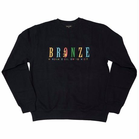 BRONZE 56K BEAR EMBROIDERED CREWNECK NAVY