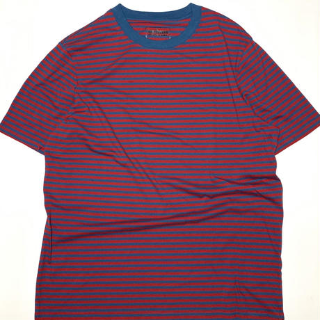 Striped Tee-Wine/Blue