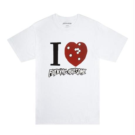 FUCKING AWESOME I HEART FA TEE - White