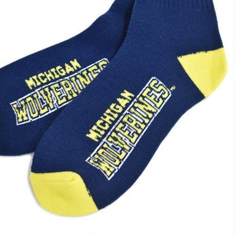 Michigan Wolverines Official License Socks - Navy