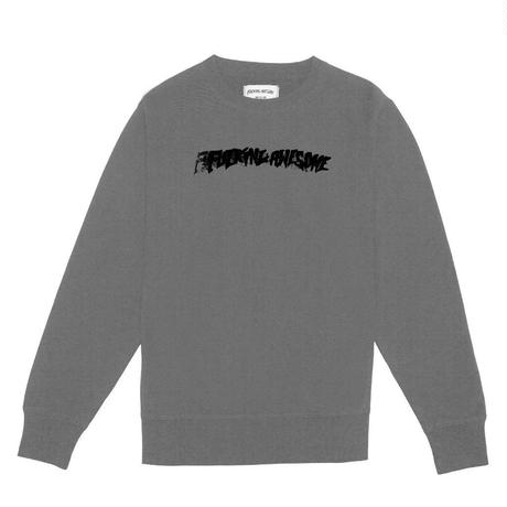 FUCKING AWESOME STAMP CREW NECK - HEATHER GREY