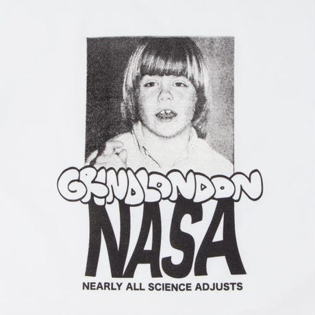GRIND LONDON nasa tee white