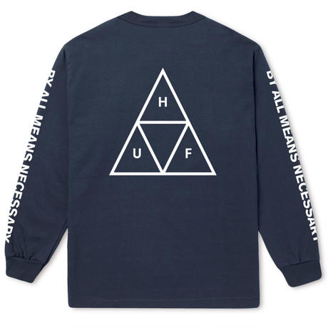HUF TRIPLE TRIANGLE LONG SLEEVE TEE - TWILIGHT BLUE