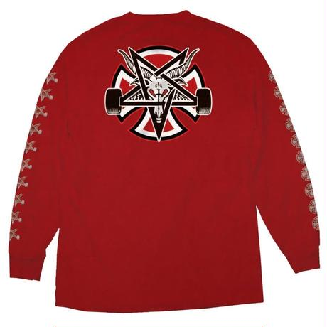 Independent Trucks x Thrasher Pentagram Cross Long Sleeve - Red