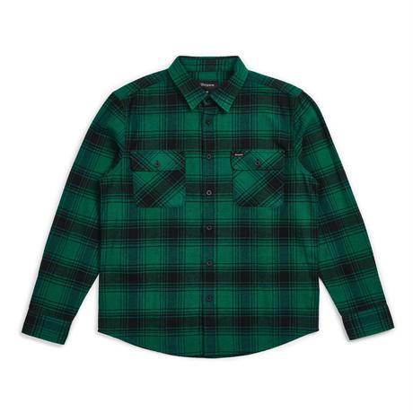 BRIXTON ARCHIE L/S FLANNEL - GREEN/BLACK