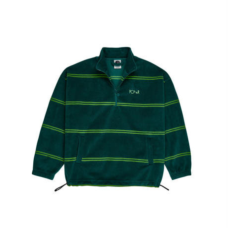 POLAR SKATE CO STRIPED-FLEECE-PULLOVER-2.0-GREEN