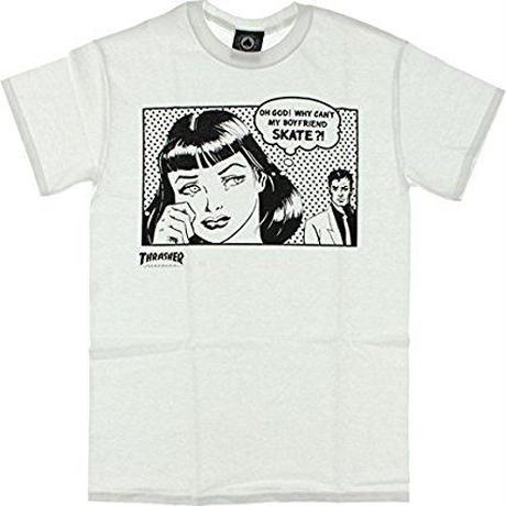 THRASHER  Boyfriend  T-Shirt WHITE
