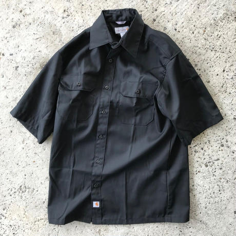 CARHARTT  SHORT SLEEVE TWILL WORK SHIRT - BLACK